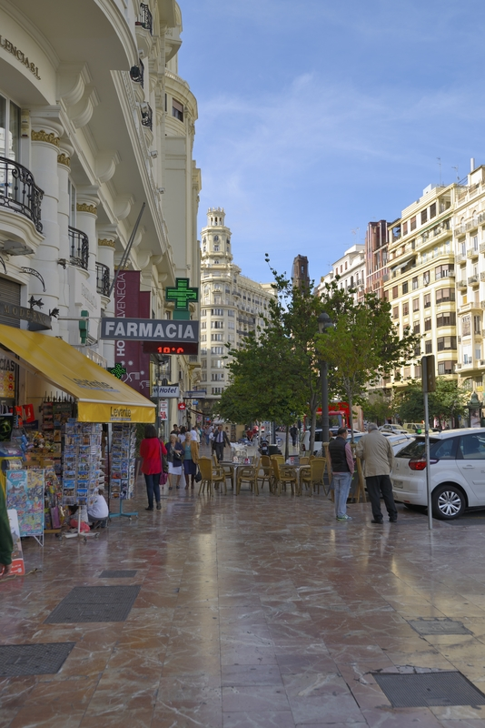 Typical streets of Valencia