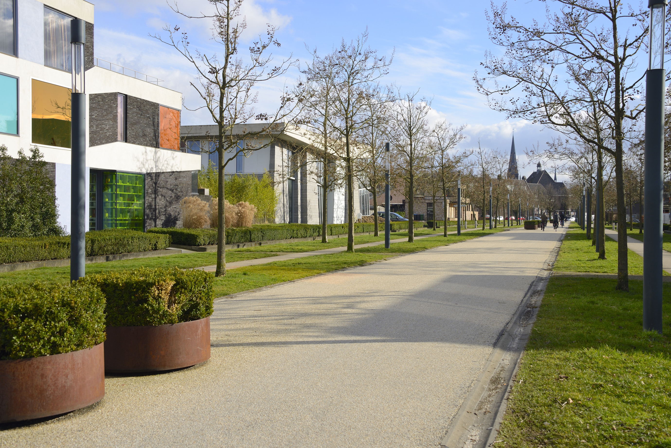 Museum road through rebuilt Roombeek