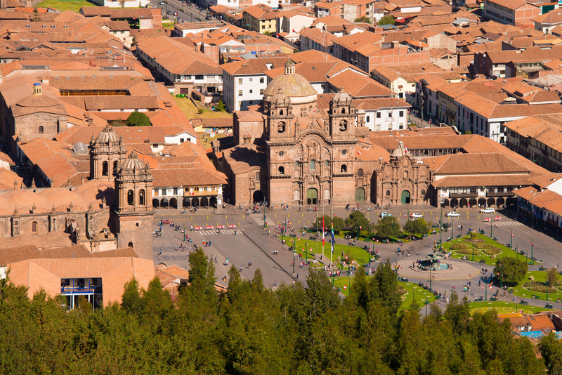 La Compania and Cathedral at Plaza de Armas in Cuzco