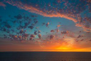 Sunset North Sea, the Netherlands